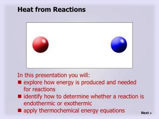 Heat from Reactions