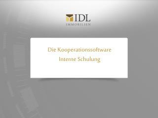Die Kooperationssoftware Interne Schulung