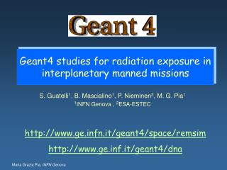 Geant4 studies for radiation exposure in interplanetary manned missions
