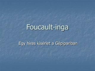 Foucault-inga