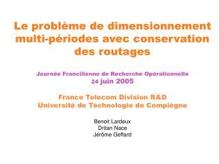 Le problème de dimensionnement de réseau à coûts discontinus (1/2)