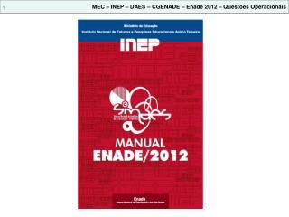 1 MEC – INEP – DAES – CGENADE – Enade 2012 – Questões Operacionais