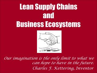 Lean Supply Chains and Business Ecosystems