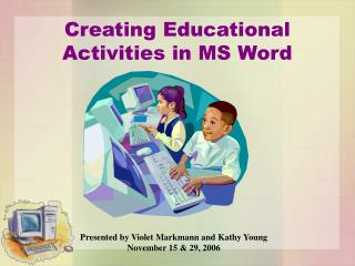 Creating Educational Activities in MS Word