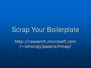 Scrap Your Boilerplate