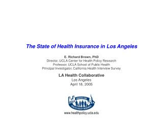 The State of Health Insurance in Los Angeles