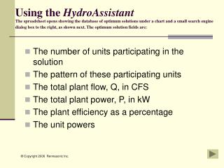 The number of units participating in the solution  The pattern of these participating units