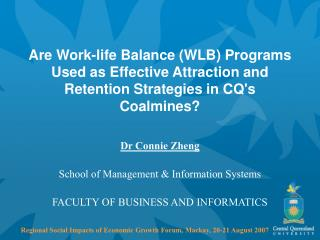 Dr Connie Zheng School of Management & Information Systems FACULTY OF BUSINESS AND INFORMATICS