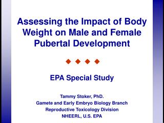 Assessing the Impact of Body Weight on Male and Female Pubertal Development