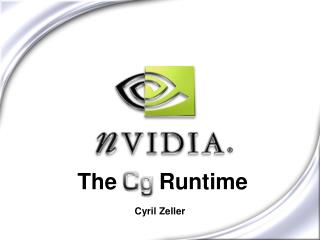 The Cg Runtime