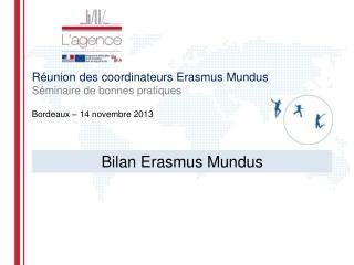 Réunion des coordinateurs Erasmus  Mundus Séminaire de bonnes pratiques