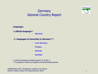 Germany General Country Report