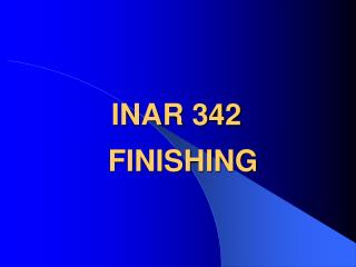 INAR 342