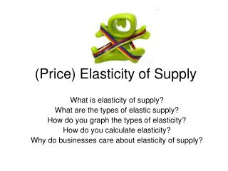 (Price) Elasticity of Supply