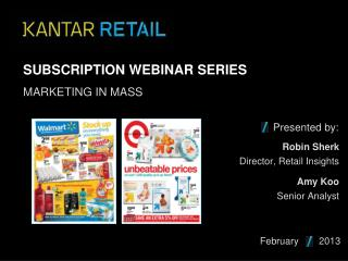 Subscription Webinar Series