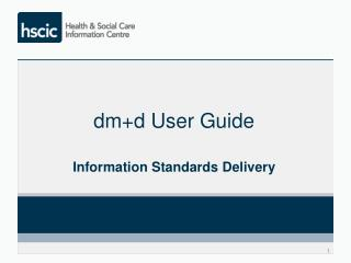 dm+d User Guide