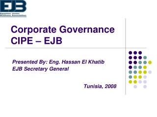 Corporate Governance CIPE – EJB