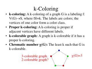 k-Coloring