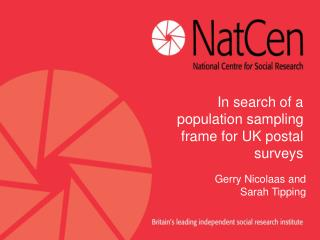 In search of a population sampling frame for UK postal surveys