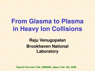 From Glasma to Plasma in Heavy Ion Collisions