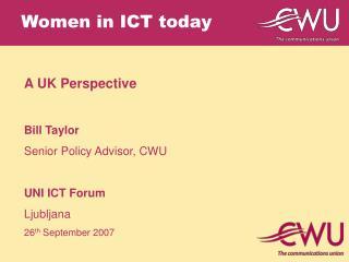 Women in ICT today