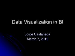 Data Visualization in BI