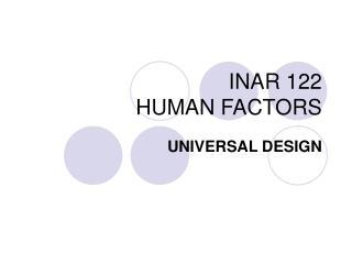 INAR 122 HUMAN FACTORS