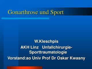 Gonarthrose und Sport