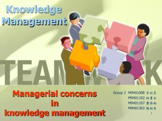 Managerial concerns in knowledge management