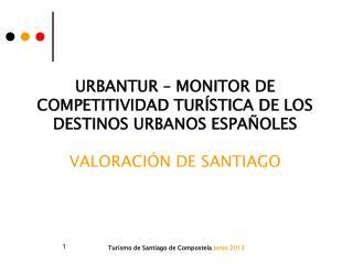 URBANTUR – MONITOR DE COMPETITIVIDAD TURÍSTICA DE LOS DESTINOS URBANOS ESPAÑOLES