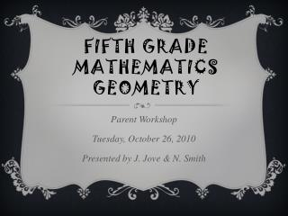 Fifth Grade Mathematics Geometry