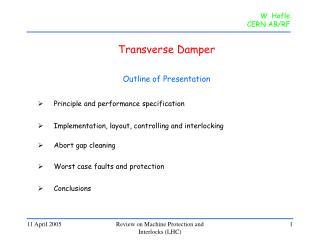 Transverse Damper