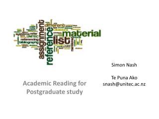 Simon Nash Te Puna  Ako snash@unitec.ac.nz