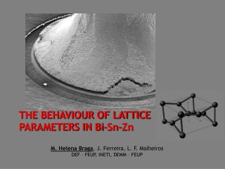 THE BEHAVIOUR OF LATTICE PARAMETERS IN Bi-Sn-Zn M. Helena Braga , J. Ferreira, L. F. Malheiros