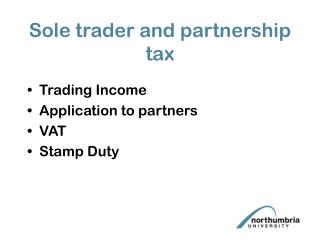 Sole trader and partnership tax