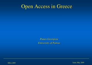 Open Access in Greece