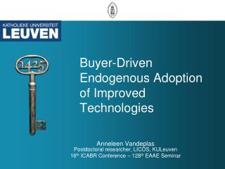 Buyer-Driven Endogenous Adoption of Improved  Technologies