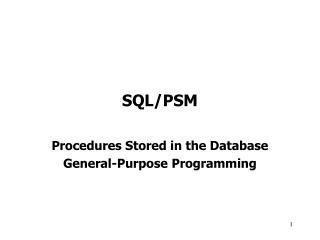 SQL/PSM