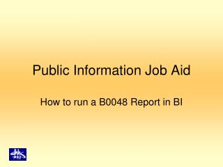 Public Information Job Aid