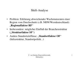 Shift-Analyse