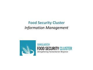Food Security Cluster Information Management