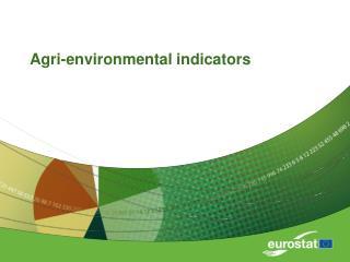 Agri-environmental indicators