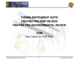 THEMIS INSTRUMENT SUITE  FM2/FM3 PRE-SHIP REVIEW  FM4/FM5 PRE-ENVIRONMENTAL REVIEW FGM