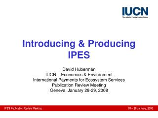 Introducing & Producing IPES