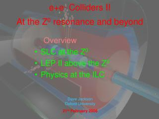e+e -  Colliders II At the Z 0  resonance and beyond