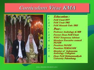 Curriculum Vitae KMA