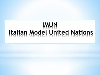 IMUN Italian Model United Nations