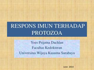 RESPONS  IMUN  T ERHADAP  PROTOZOA