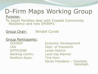 D-Firm Maps Working Group
