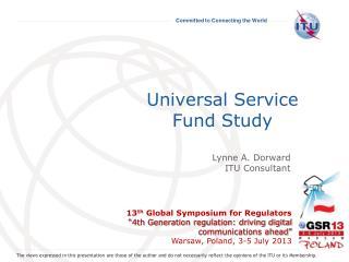 Universal Service Fund Study